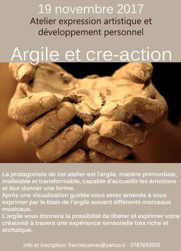 """atelier """"Argile et Cre-action"""""""